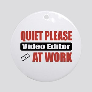 Video Editor Work Ornament (Round)